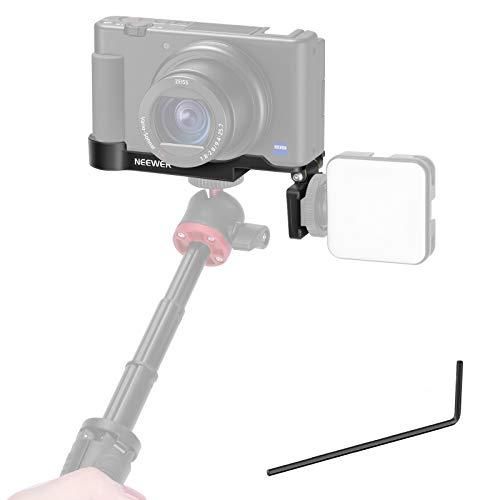 Neewer ZV 1 Kamera Basishalterung Kompatibel mit Sony ZV 1 Kamera mit umschaltbarem MikrofonLicht Kaltschuh Verlangerungshalterung unterer 14 Stativhalterung Vlog YouTube Live Stream Zubehor