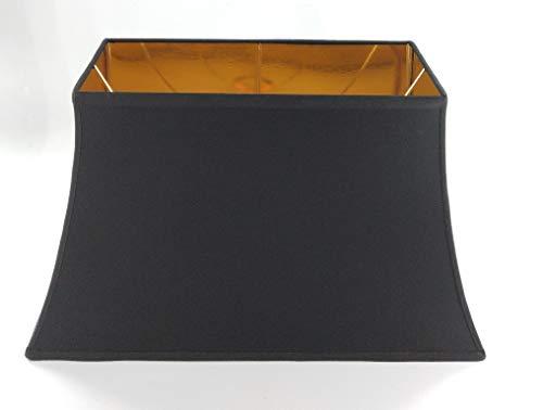 Empire-Designer-Lampenschirm-rechteckig konische Form-Pagode-schwarz