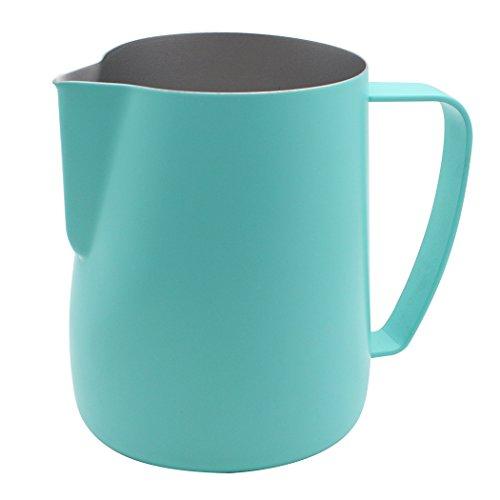 Dianoo Krug Krug Aus Edelstahl Dampfender Krug, Der Für Kaffee Geeignet Ist Latte Und Schäumende Milch 600ml Blau