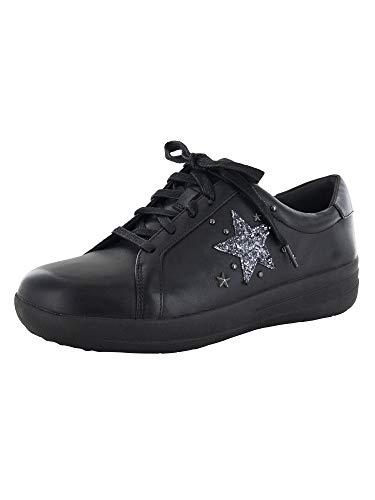 FitFlop F-Sporty II Glitter Star - Zapatillas deportivas para mujer, negro (Negro), 36 EU