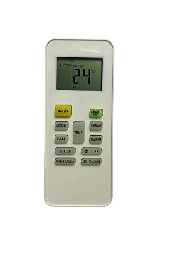 TA Technology Ahead Large Screen Display AC Remote Control Works for Reconnect Original Air Conditioner - White
