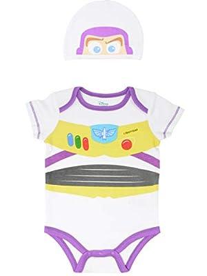 Disney Pixar Toy Story Baby Boys Buzz Lightyear Costume Bodysuit & Hat 0-3 Months