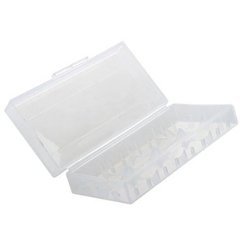 SODIAL(R) Caja para Pila Bateria 18650 Portapila Portabateria Transparente