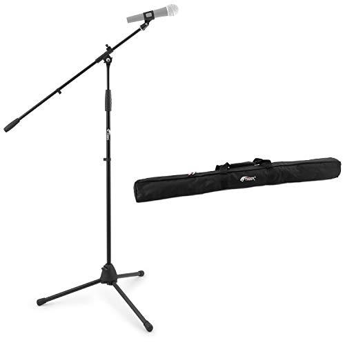 Tiger Boom - Soporte para micrófono con clip para micrófono, Plástico con Bolsa, Negro