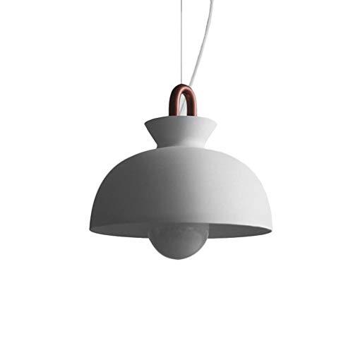 Suspension industrielle rétro suspension lampe suspension rétro métal noir abat-jour lustre café loft cuisine bar style plafonnier lustre E27 base (Couleur : Blanc, style : C)