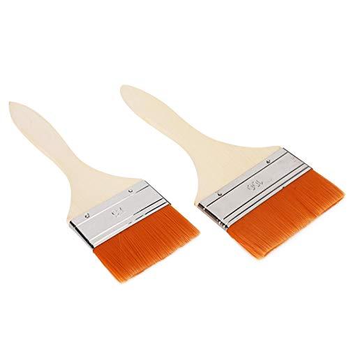2 uds, pincel de pintura con chip, pincel de acuarela, mango de madera, aceite acrílico, pincel de pintura para el hogar para artista para pintura acrílica