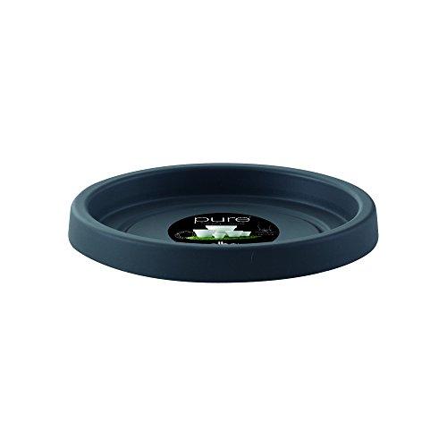 Elho Pure Saucer, 40 cm, Antracite, 42x42x3.7 cm