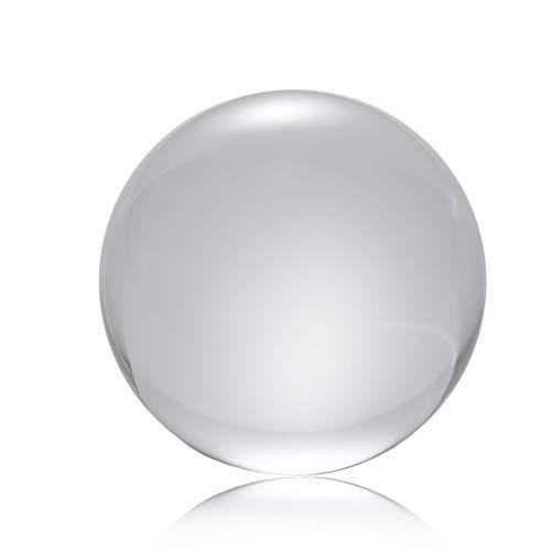 Peanutaso 50mm / 80mm / 100mm Bola de Cristal Cristal de Cuarzo Bola Transparente Esferas Feng Shui Bola de Cristal Miniaturas Adornos Regalo