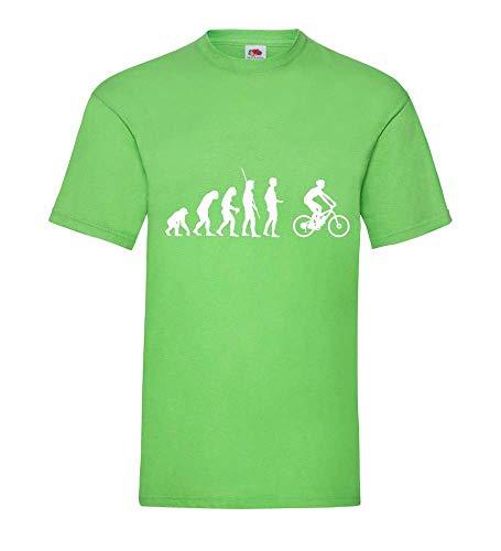 Shirt84.de T-shirt pour homme Evolution VTT électrique - Vert - X-Large