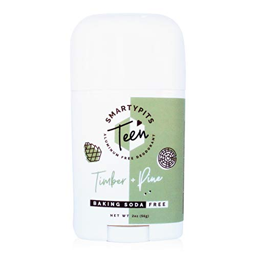 SmartyPits – Teen Natural/Aluminum-Free Deodorant for Sensitive Skin (baking soda free) Parab (Timber + Pine)