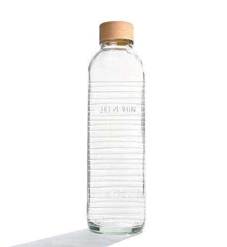Carrybottle - Glastrinkflasche Water is Life - drink more Water - 0,7l