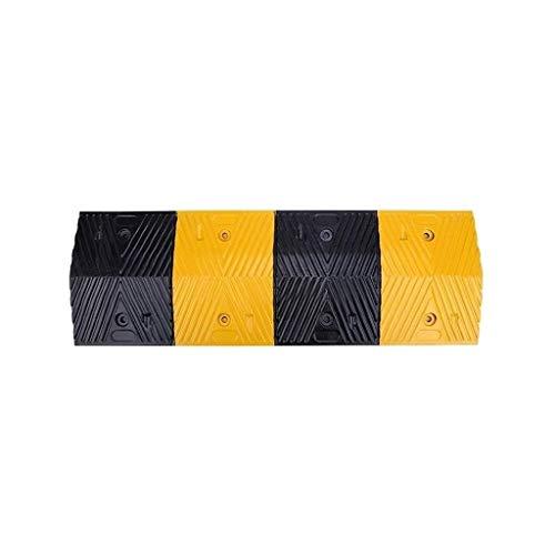 FACAIA Rampen für Rollstühle Highway Downhill Deceleration Zone, gelbe und Schwarze auffällige Autorampen Gummi Tragbare Servicerampen Größe: 100 * 25 * 4CM Praktisch (Größe: 100 * 35 * 4CM)