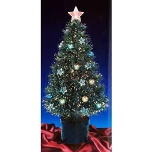 Christmas Concepts Albero di Natale Verde da 32 Pollici con Fibre ottiche e Stelle e Palline