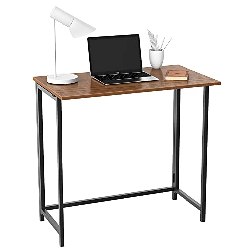 Compact Foldable Computer Desk Home Office Laptop Desktop Table Portable Folding Study Table for Small Space Non Assemble Gaming Workstation for Living Room Bedroom and Garden