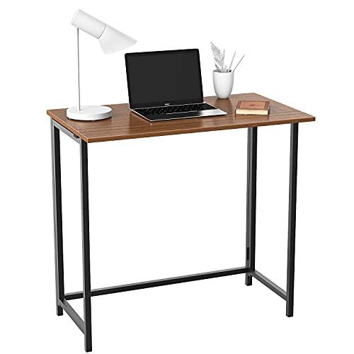 Naspaluro Escritorio plegable, escritorio plegable para ordenador, sin montaje, para casa, oficina, escritorio, plegable, sala de estar, dormitorio