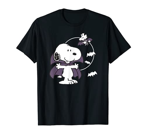 Peanuts Halloween Vampire Snoopy T-Shirt, Many Colors for Men, Women and Kids Sizes