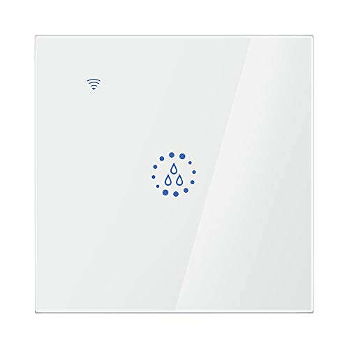 FreeLeben Wasserkocher Smart Schalter, 20A WiFi Voice Remote Control Zuhause Boiler Touch Wall Panel Timer Steuerung Kompatibel mit Amazon Alexa/Google Assistant (Weiß)