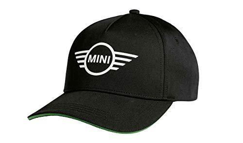 Mini Original Cap Wing Logo Contrast Edge Kappe Schwarz Grün Kappe Basecap Mütze