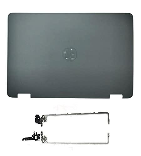 Reemplazo para HP Probook 650 G2 655 G2 Series LCD Tapa trasera tapa trasera y bisagras Versión no táctil 840724-001 (A+H)