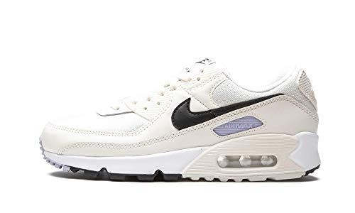 Nike W Air MAX 90, Zapatillas para Correr Mujer, Sail Black Ghost, 36.5 EU