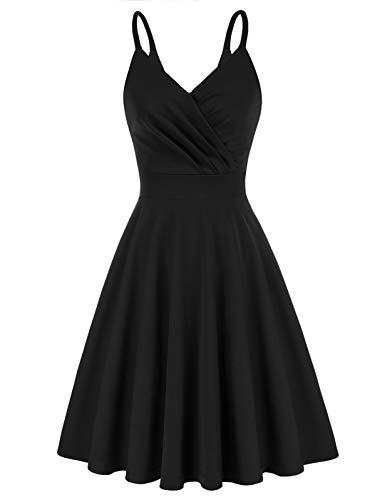 1950er Kleid Damen cocktailkleid ärmellos a Linie Kleid Vintage Kleid elegant Kleider CL121-1 L