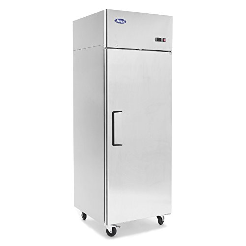 Commercial Refrigerator Freezer,ATOSA MBF8001 Single 1-Door Top Mount Stainless Steel Reach In...