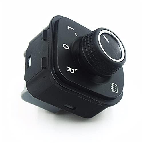 Control de espejo lateral Control de ajuste Interruptor de la perilla Larga vida útil No es fácil de usar Adecuado para Volkswagen VW Jetta Golf 5 6 Tiguan Passat B6 B7 CC 5ND 959 565B 565E 5K1 959 56