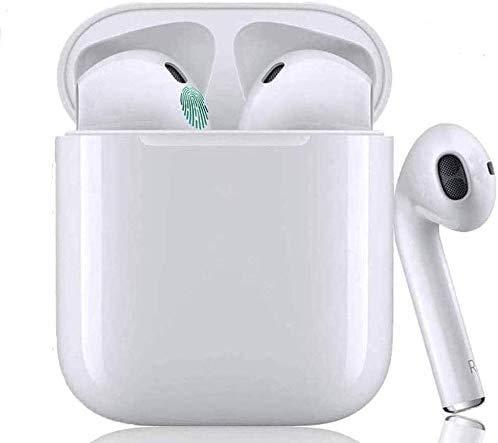 Auriculares inalámbricos Bluetooth 5.0, Control táctil micrófono Incorporado y Caja de Carga, reducción de Ruido estéreo 3D HD, adecuados para Auriculares Android/iPhone/Samsung/AirPods Pro