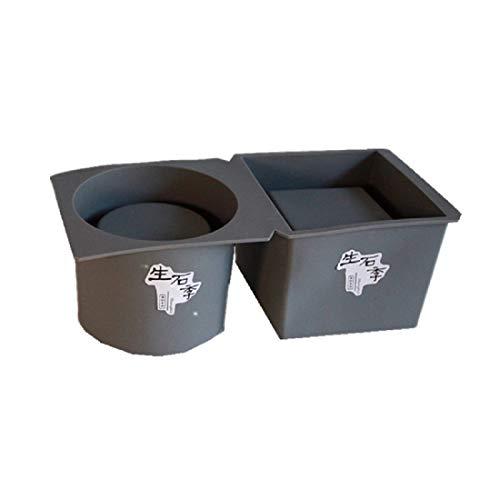 Yalulu - Juego de 2 moldes de silicona para macetas de cemento, moldes de silicona para plantas suculentas, macetas, cemento, moldes para hormigón, moldes para manualidades