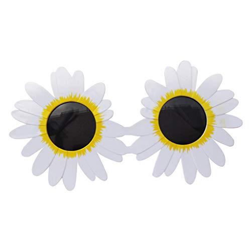 freneci Gafas De Sol Para Niños Gafas De Sol Redondas Lindas Gafas De Sol Con Forma De Flor Para Niños Accesorios De Fiesta Para Niñas - Blanco, El 16x13cm