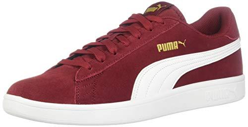 PUMA Smash Sneaker Rhubarb Team Gold White, 9 M US