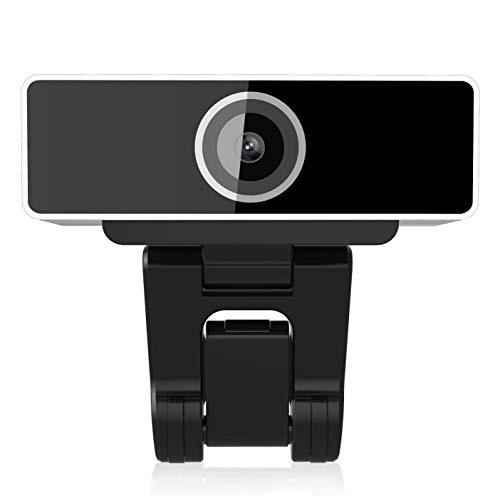 Jaybest Webcam 1080P Full HD per PC, Webcam con Microfono, videochiamata e Registrazione per Computer Desktop Portatile, Fotocamera USB Plug And Play per Youtube, Compatibile con Windows