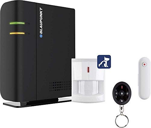 """Blaupunkt Q-Pro6300 Smarthome Funk-Alarmanlage, Starter-Set mit integrierter Sirene, Funk-Fernbedienung, Tür-/Fenstersensor und innovativen """"tierimmunen"""" Bewegungsmelder"""