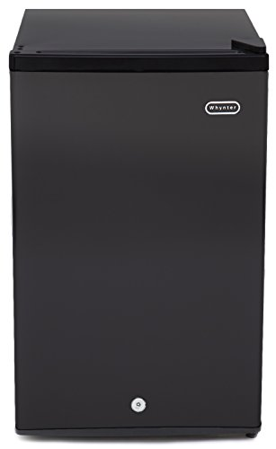 Whynter Black CUF-301BK 3.0 cu. ft. Energy Star Upright Freezer with...