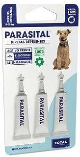Parasital Pipetas Antiparasitarias para Perros Medianos de 10 a 25 kg - 3x3ml de Zotal - Activo C...