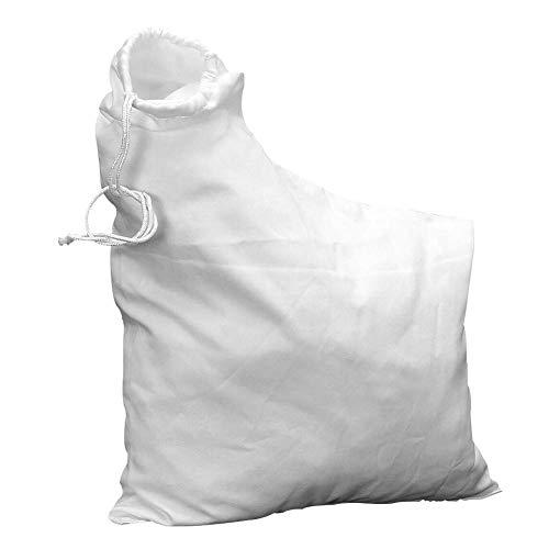 Paletur0 - Bolsa para aspirador de hojas al aire libre, a prueba de polvo, para trituradora de césped 2595 para rastrillo y sopladores de hojas de vacío, No nulo, Blanco, Tamaño libre