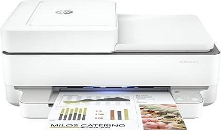 HP Envy Pro 6420 5SE45B, Impresora Multifunción Tinta A4, Color, Imprime, Escanea, Copia y Fax, Wi-Fi, USB 2.0, HP Smart App, Incluye 3 Meses del Servicio Instant Ink, Blanca