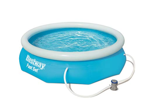 Bestway Round Kids Inflatable Paddling Pool with Filter Pump, Fast Set, 10 ft