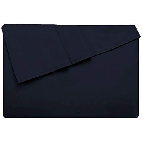 Lirex Sábana Encimera, Tamaño 230 cm x 258 cm Hoja Plana de Microfibra Extra Suave,, Lavable a Máquina sin Arrugas, Transpirable - Azul Marino