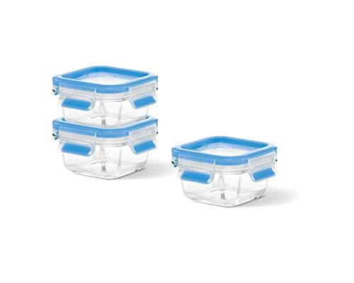 emsa Frischhaltedose CLIP & CLOSE Glas, 3er Set, 0,20 Liter, Sie erhalten 1 Packung, Packungsinhalt: 3 er Set