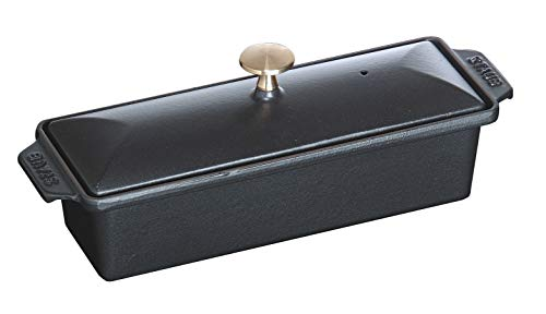 Staub 40509-575-0 Terrine, 30 x 11 cm, 1,45 L, Innen schwarz glänzend, schwarz