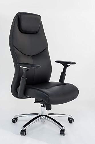 Sigma Office Silla Ejecutiva ergonómica Plethora con polipiel negra y brazos ajustables.
