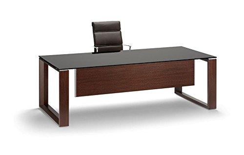 Bralco Schreibtisch mit Glasplatte Arche, Glasschreibtisch, Design Büromöbel, Chefschreibtisch, Chefbüro, italienische Designermöbel