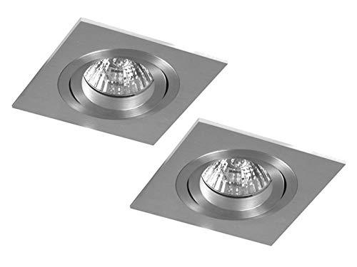 Lot de 2 ampoules éco-halogènes encastrables lOUISE aluminium gU10 à intensité variable pivotant 230LM 35; xQ0805