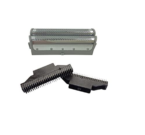 LEILEI Stlei Store Shaver Reemplazo de la Pantalla de lámina + Cabezal de Hoja en Forma para Panasonic ES4820 ES4823 ES4826 ES4853 ES4501ES4035 ES-RW30 ES9859 Malla de Afeitar