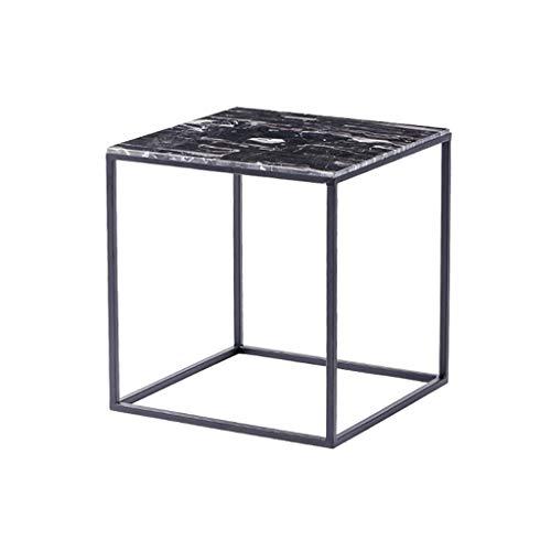 table basse salon nordique en marbre canapé carré coin quelques art de fer petite table (Couleur : A)