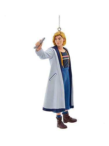 Kurt Adler DW1201 Doctor Who 13th Doctor with Sonic Screwdriver Hanging Ornament, 5-inch Height, Plastic