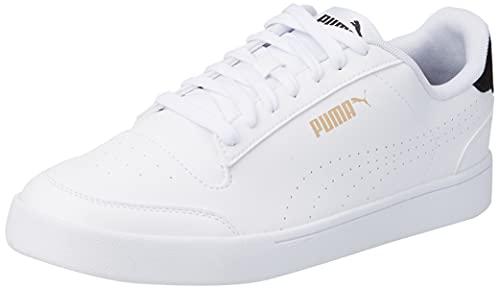 PUMA Unisex-Sneaker Shuffle Perf, Puma Weiß Puma Schwarz Puma Team Gold, 45 EU