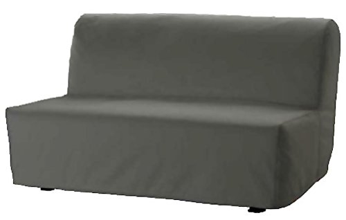 Sofa Renewal The Lycksele Lovas Sofa Bed Cover Replacement Is Custom Made For Ikea Lycksele Sleeper Or Futon Slipcover. No Filling, Nor Wadding Easy To Wash (Dark Gray Cotton)