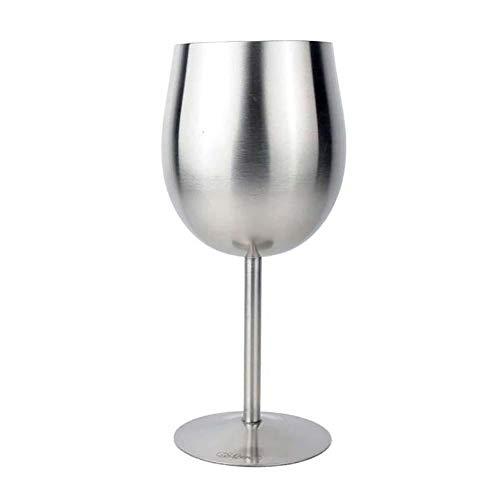 Fablcrew - Copa de vino de acero inoxidable irrompible, diseño ergonómico